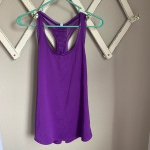 Fabletics Women's Large Purple Workout Tank Top